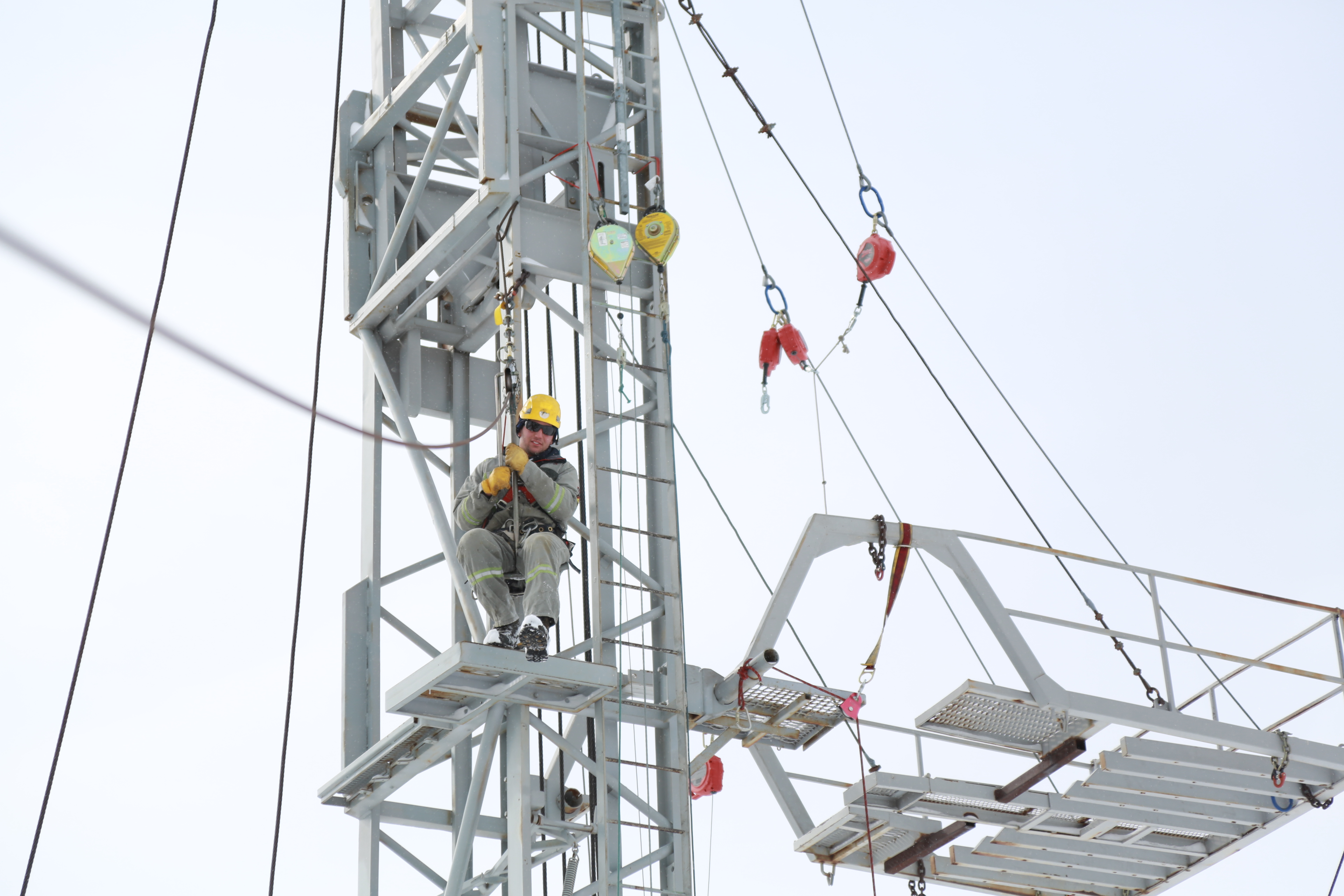 fall protection and elevated work platform safety training edmonton devon