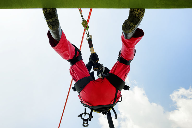 Fall & High Angle Rescue Safety Training at MI Safety in Edmonton & Devon